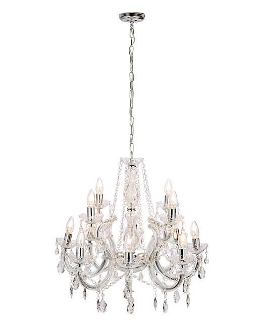 Marie therese 12 light chandelier j d williams marie therese 12 light chandelier glass column mozeypictures Image collections