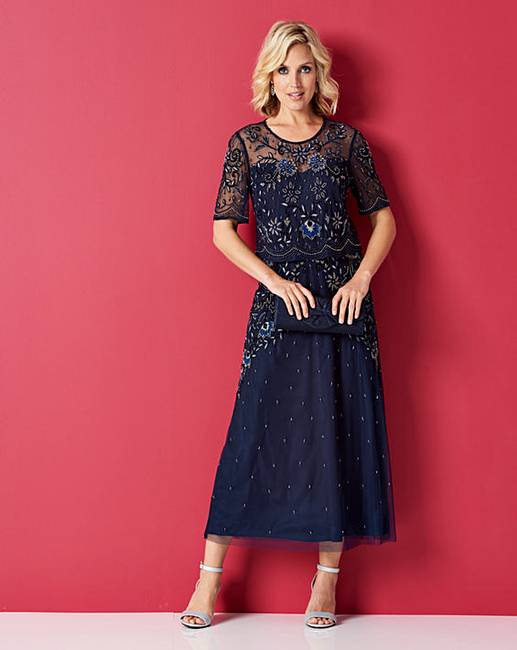 aa24c1371266 Nightingales Beaded Overlay Dress