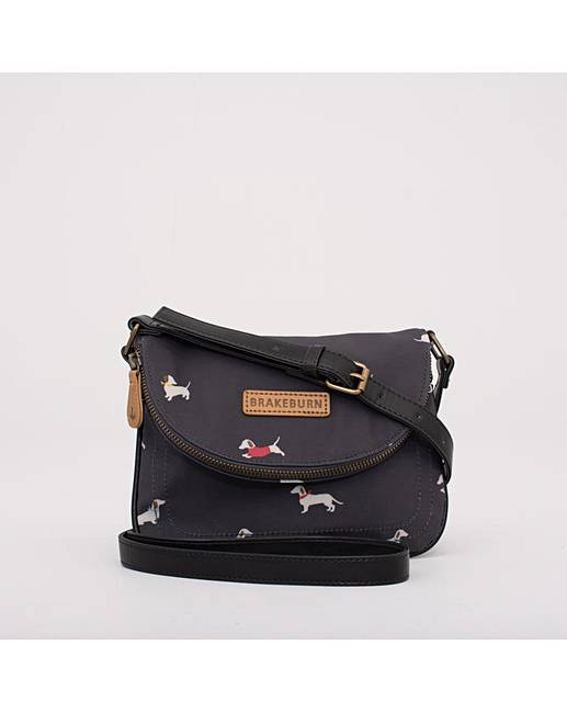 Brakeburn Sausage Dog Roo Pouch Bag Charcoal One Size