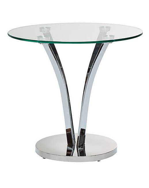 Merveilleux Moritz Chrome And Glass Side Table