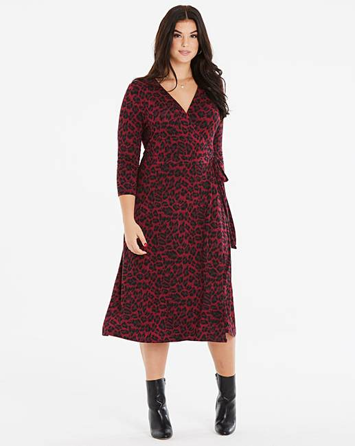 a2e9290990db Shoptagr | Oasis Curve Jersey Animal Wrap Dress by Simply Be