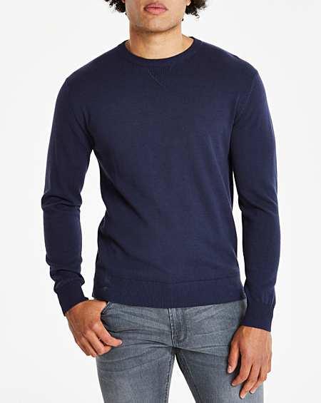 Premier Mens Long John Roll Up Long Sleeve Casual T Shirt
