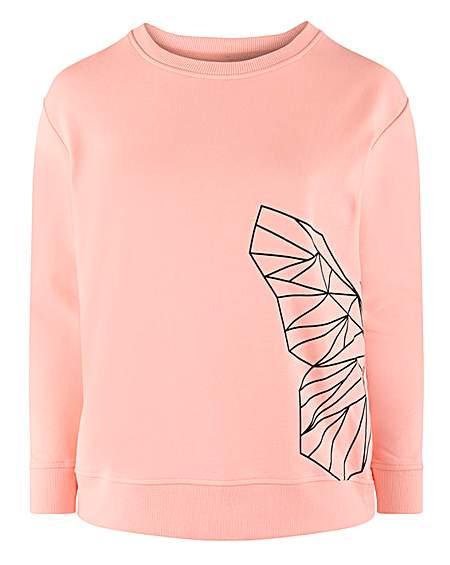 Womens Capsule Simply Be Black Print Floral  Sweatshirt Jumper Size 24 26 28