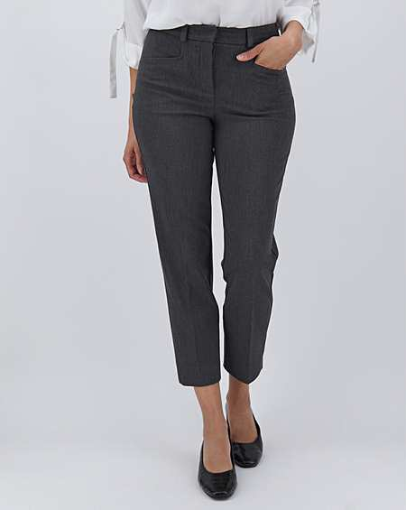 N*XT Womens Navy Cotton Taper Ankle Grazer Trousers Sizes 8-22