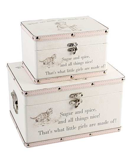 White Cotton Cards New Pram Baby Boy 3-in-1 1st Curl and Tooth Keepsake Box