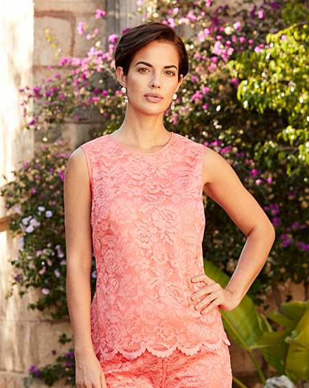 Womens Joanna Hope Textured Jersey Top