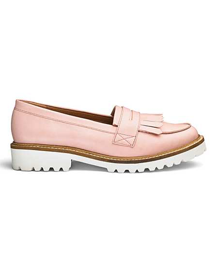 b9a24bcaf0fc Suzie Chunky Loafers E Fit
