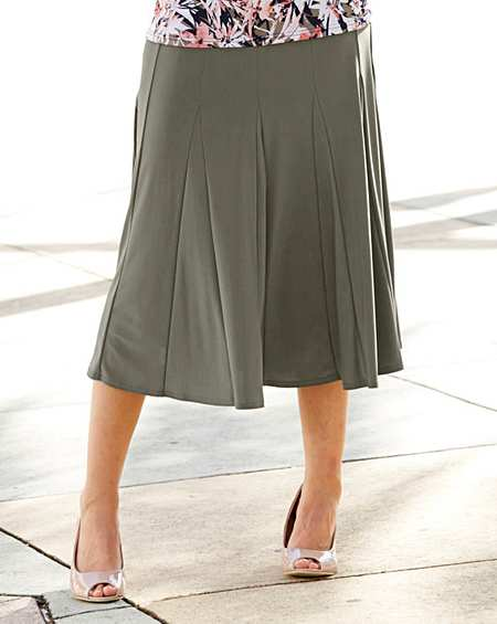 Womens Plain Jersey Skirt With Godets JD Williams