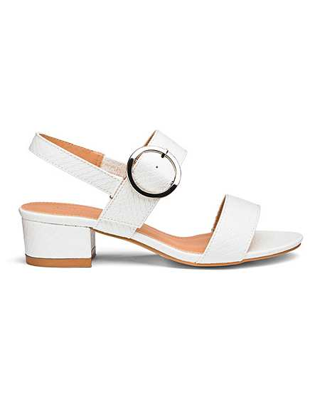 c5fb4f337ce Isabel Low Block Heel Sandal Wide Fit