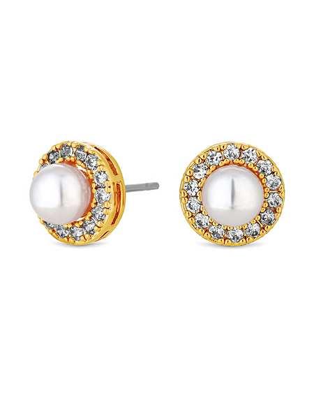 Earrings Hoops Stud Diamond Drop Fashion World