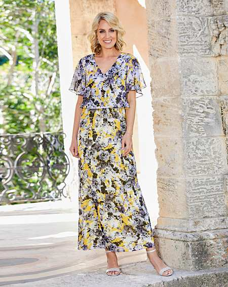 Womens Nightingales Print Dress