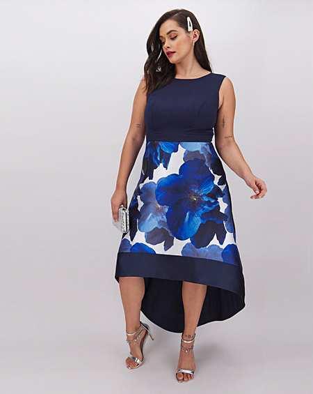 LOVEDROBE sports mesh fit /& flare dress cobalt uk size 14 RRP £49