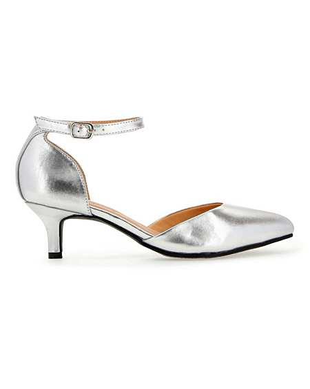 Kitten Heel Two Part Shoes E Fit   J D