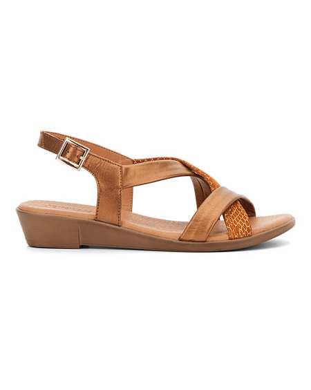 Leather Tubular Sandals E Fit | J D