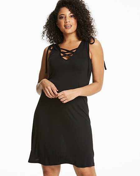 59f7fc17a9e1f3 Black Beach Dress