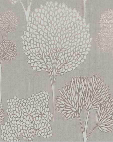 Whimsical Tree Print Wallpaper
