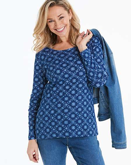 Womens Ladder Lace Soft Denim Tunic JD Williams