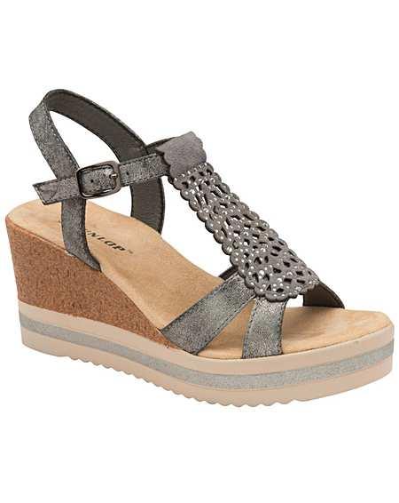 a83ef88cad Dunlop Kassie women's wedge sandals