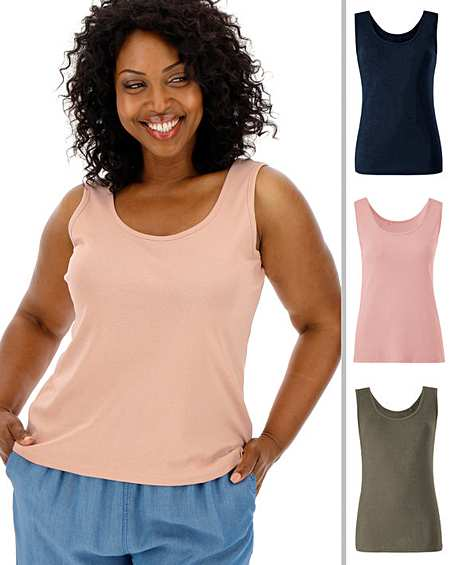 Girls Ladies 12-24 New Black Stretch Cotton Thick Strap Vest Cami Top Womens