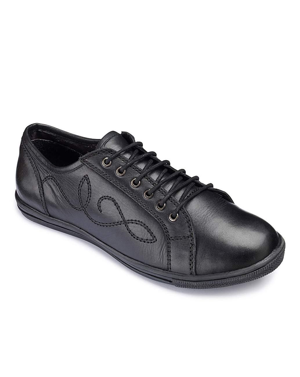 Girls Lace Up School Shoes Wide Fit | J