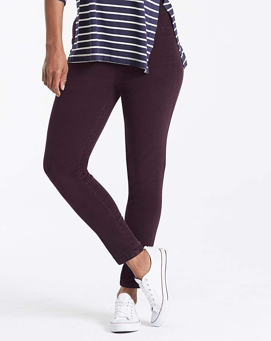 new high good service special section Cord Stretch Leggings Regular