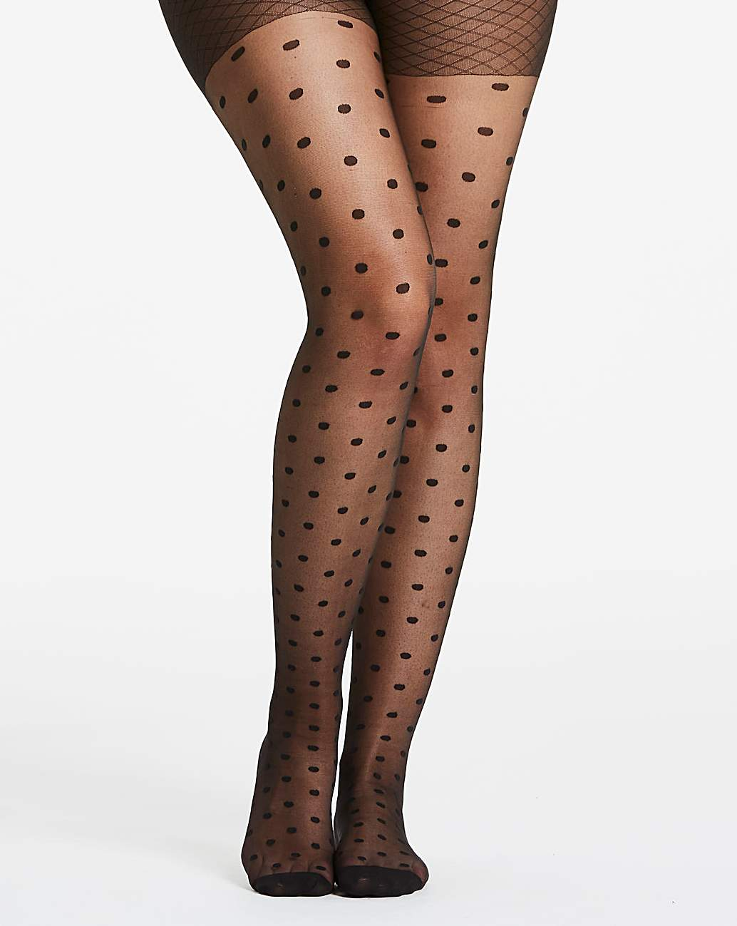 Womens Spot Mesh Tights Naturally Close 1 Pack Simply Be