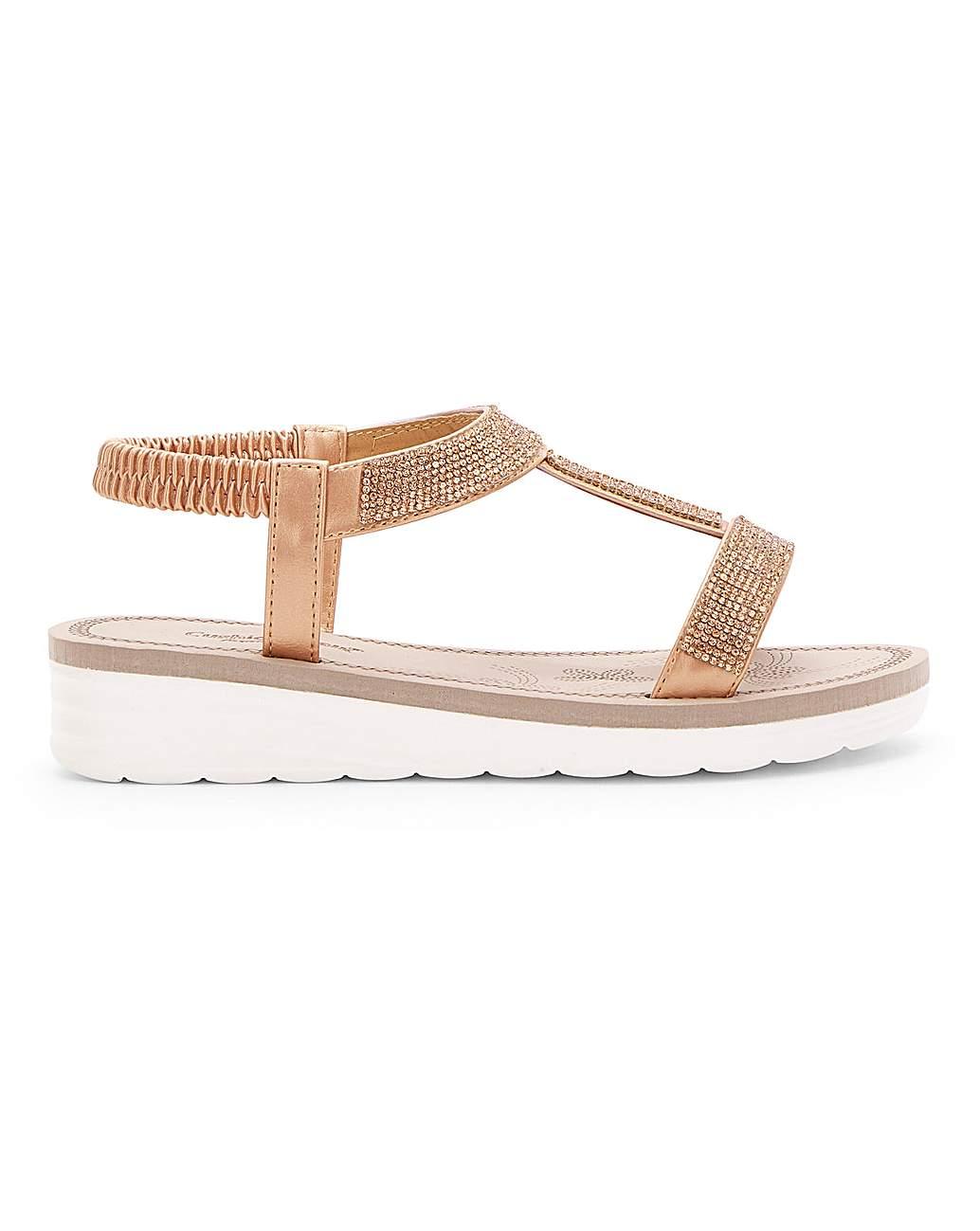 Cushion Walk Diamante Sandals EEE Fit