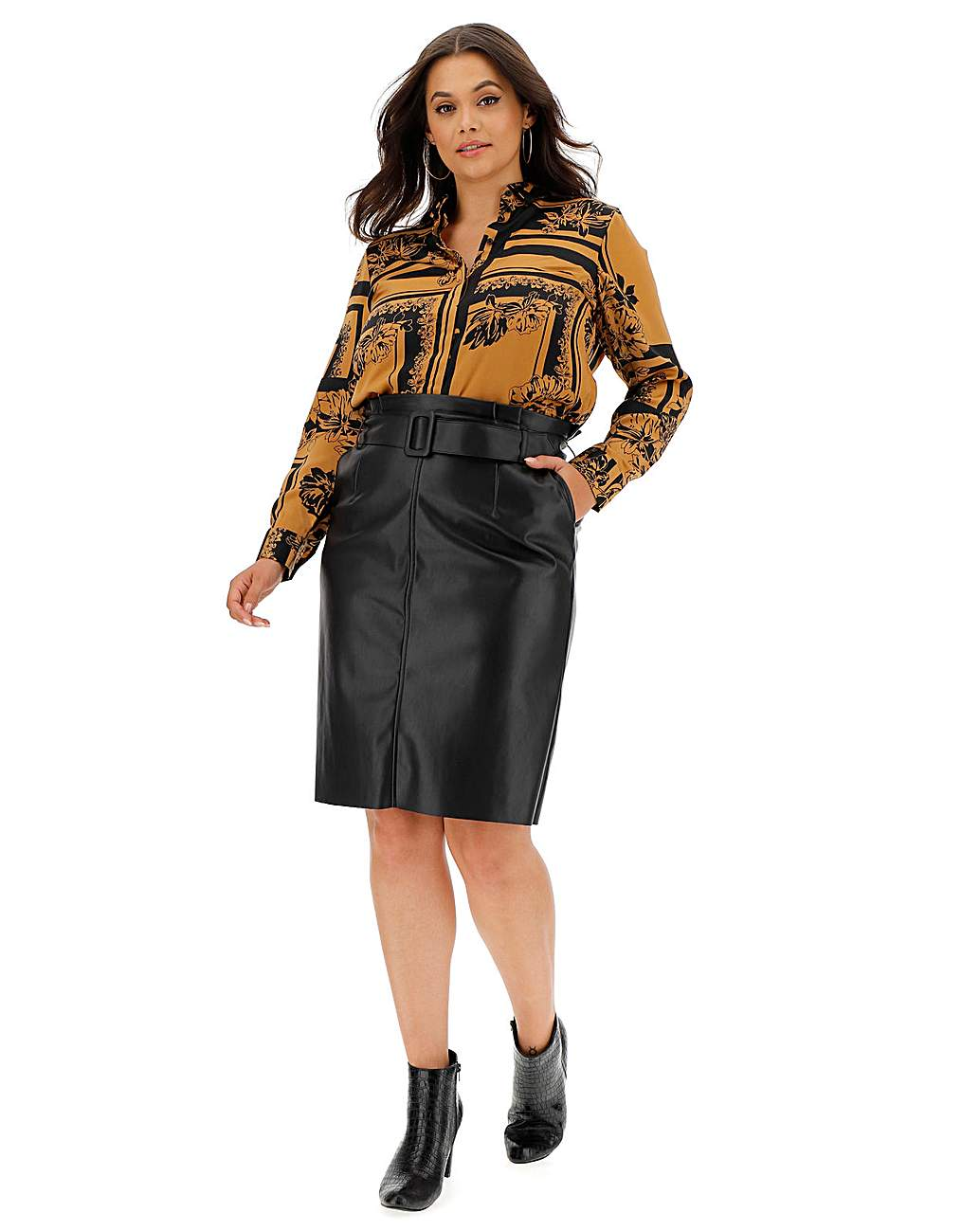 Vero Moda Leather Pencil Skirt