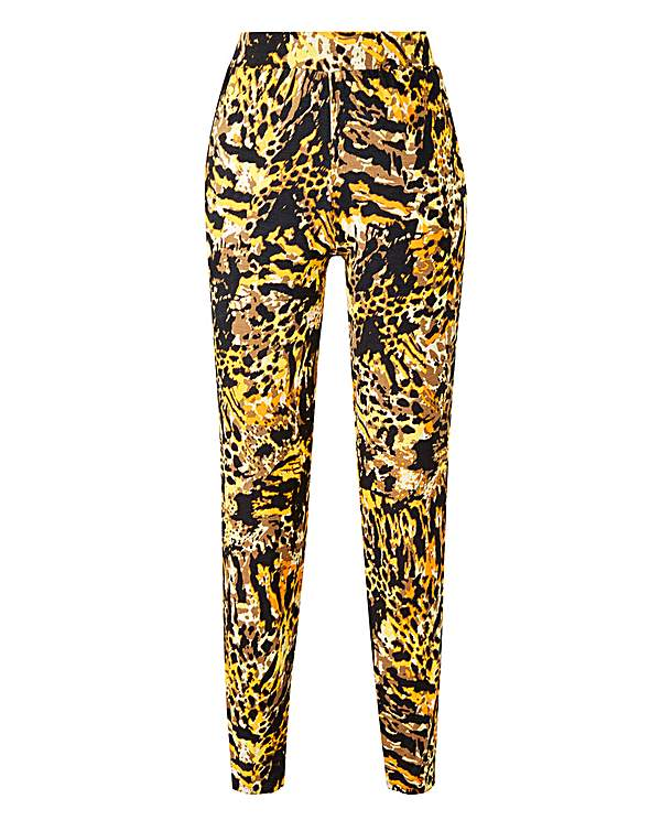 32070e95c Animal Print Jersey Tapered Trousers | Oxendales