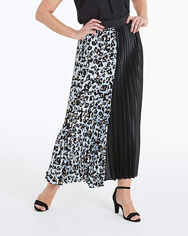 choose latest clear-cut texture brand quality Black & White Sunray Pleat Maxi Skirt