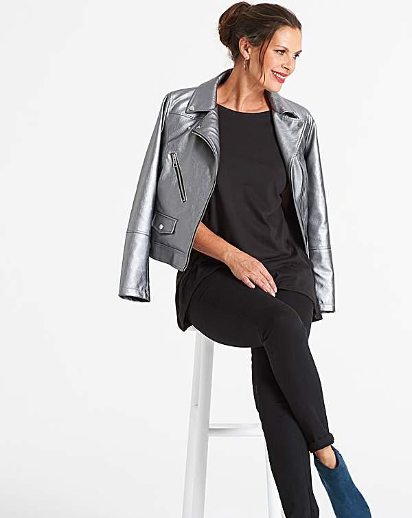 Yhdistynyt kuningaskunta saapuu ostaa hyvää Vero Moda Curve Mae Faux Leather Jacket