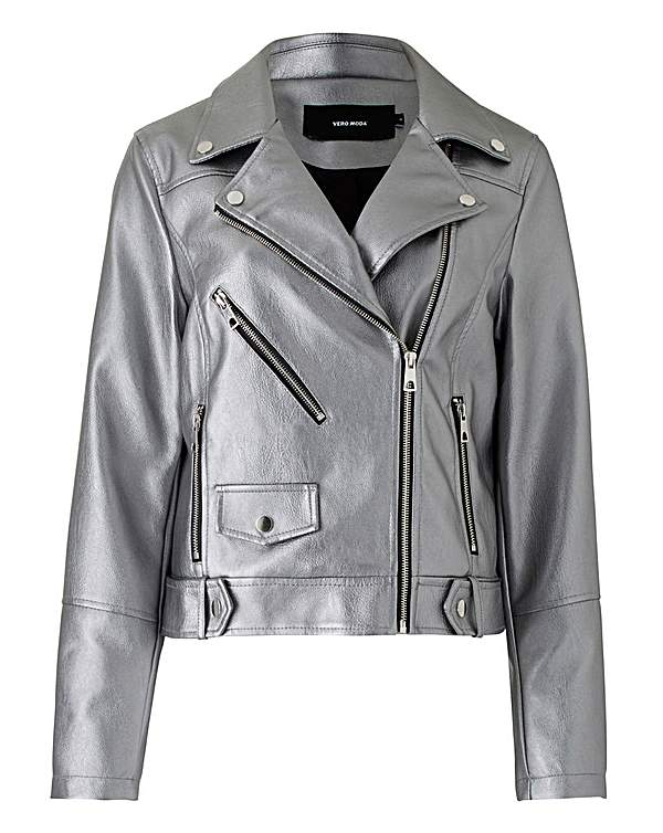 reliable reputation official price soft and light Vero Moda Curve Mae Faux Leather Jacket