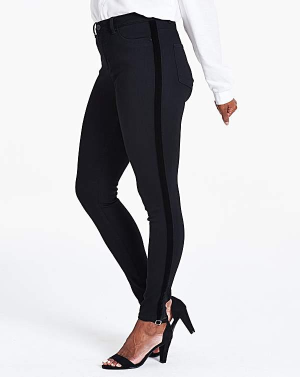 2019 original special selection of performance sportswear Black Velvet Side Sophia Jeggings