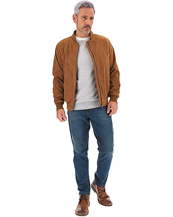 professional design limited style best authentic Tan Mock Suede Bomber Jacket
