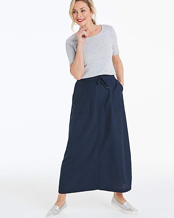 limpid in sight clearance prices bright in luster Petite Easy Care Linen Mix Maxi Skirt