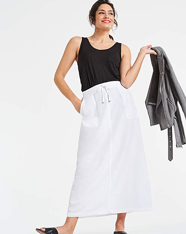 best place for pre order diverse styles Easy Care Linen Mix Maxi Skirt