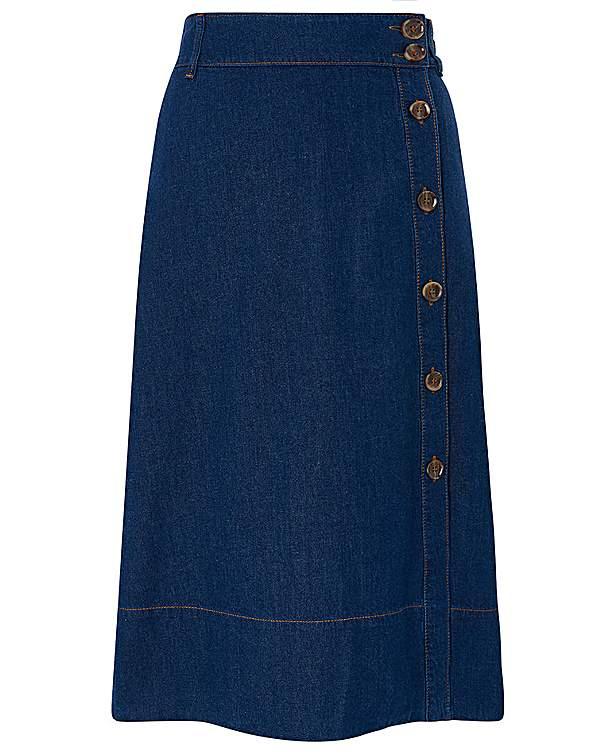 new styles top brands superior performance Monsoon Maya Midi Denim Skirt