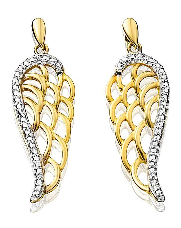 9 Carat Gold Angel Wing Earrings
