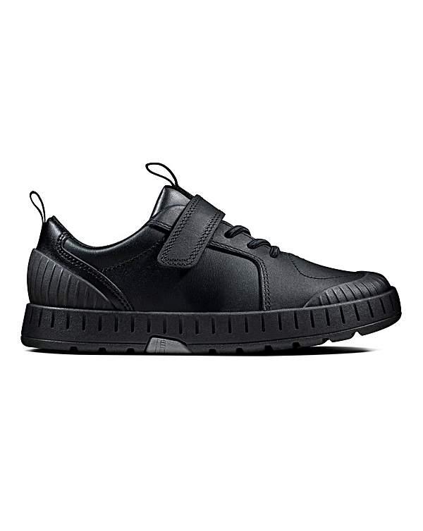 Clarks Apollo Step Schuhe für Kinder, Schwarz