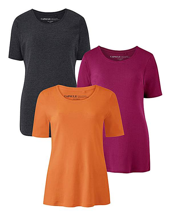 huge selection of 31f17 1069d Pack of 3 Short Sleeve T Shirts