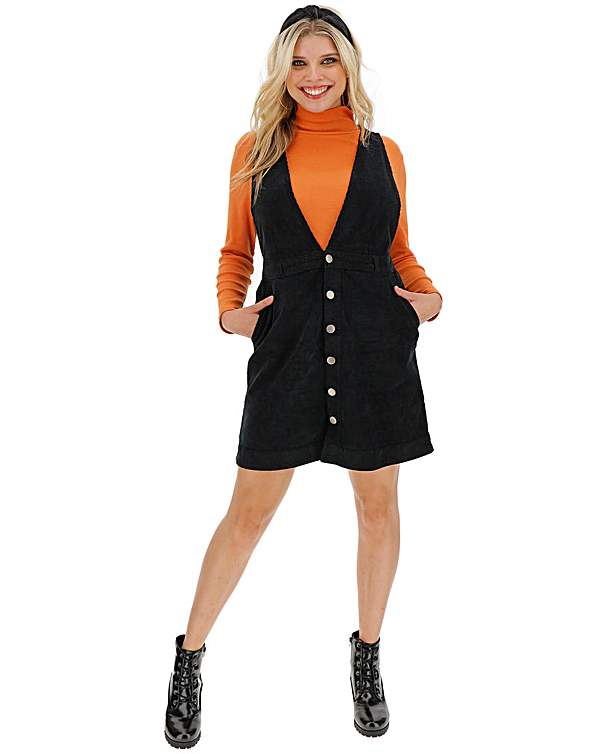 sale retailer replicas best selling Stretch Cord Deep V Pinafore Dress