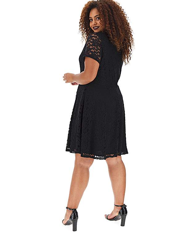 Sab8e3a Lace Skater Dress Black M Sautiyakahamacom