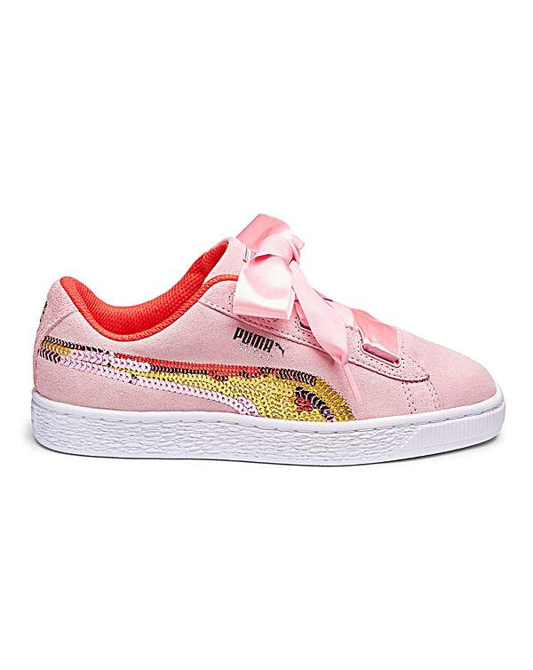 brand new 28ae8 f8bbd Puma Suede Heart Trainers