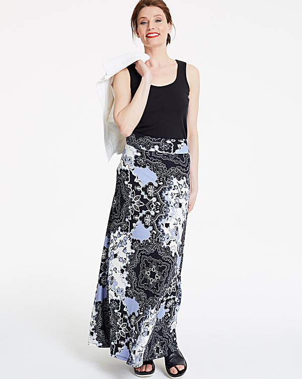 special for shoe buy good top-rated professional Print Stetch Jersey Maxi Skirt