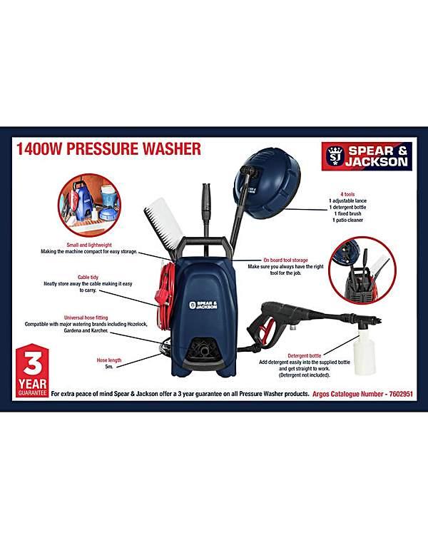 Spear & Jackson Pressure Washer - 1400W