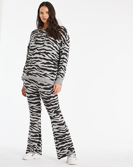 Zebra Prin Soft Touch Wide Leg Trouser