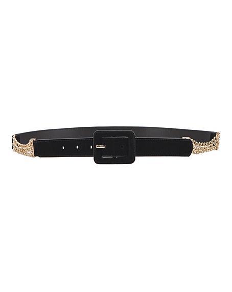Velvet Chain Detail Belt
