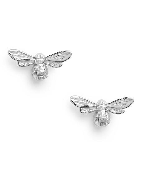 Olivia Burton Lucky Bee Silver Stud Earrings