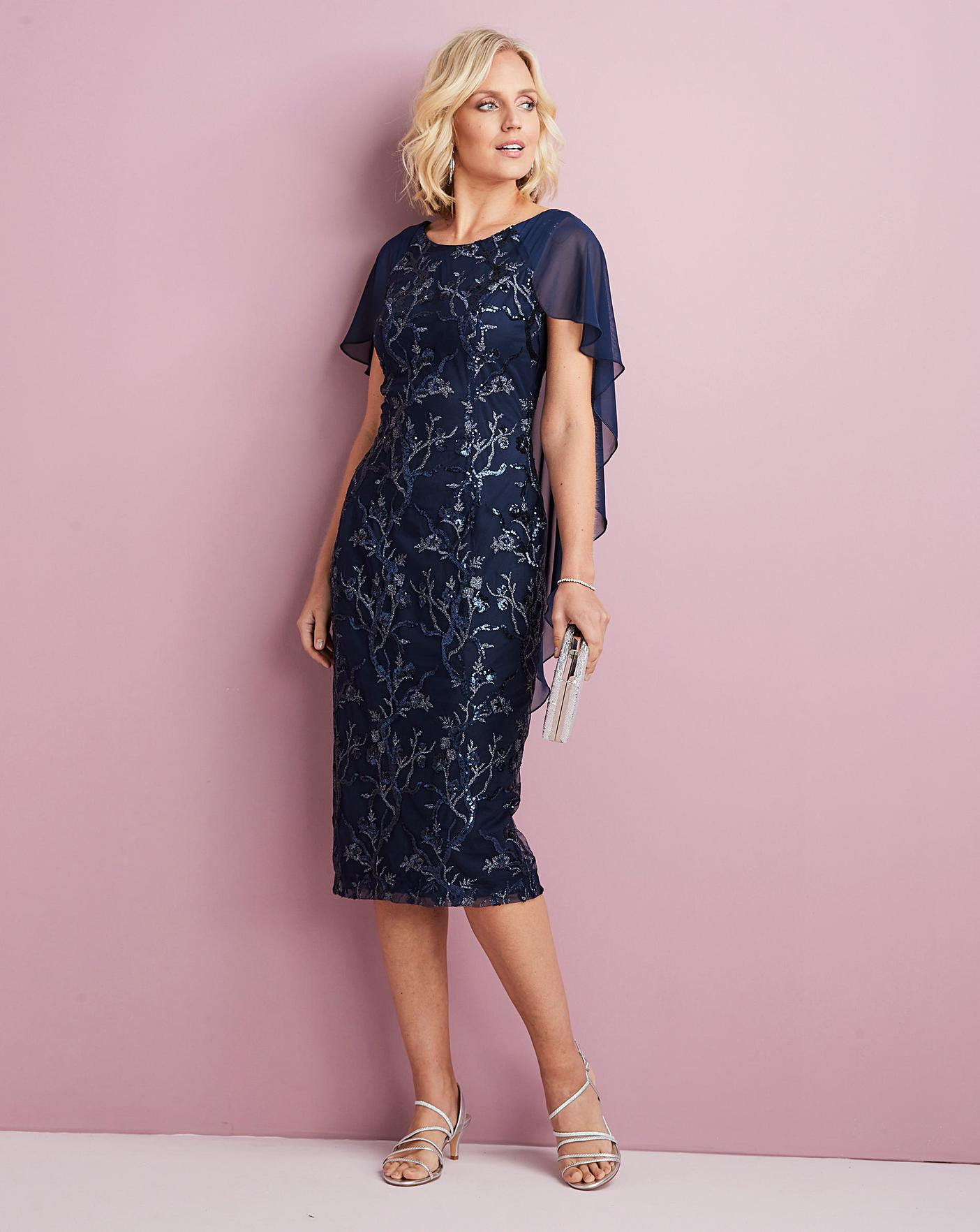 Womens Nightingales Cape Dress