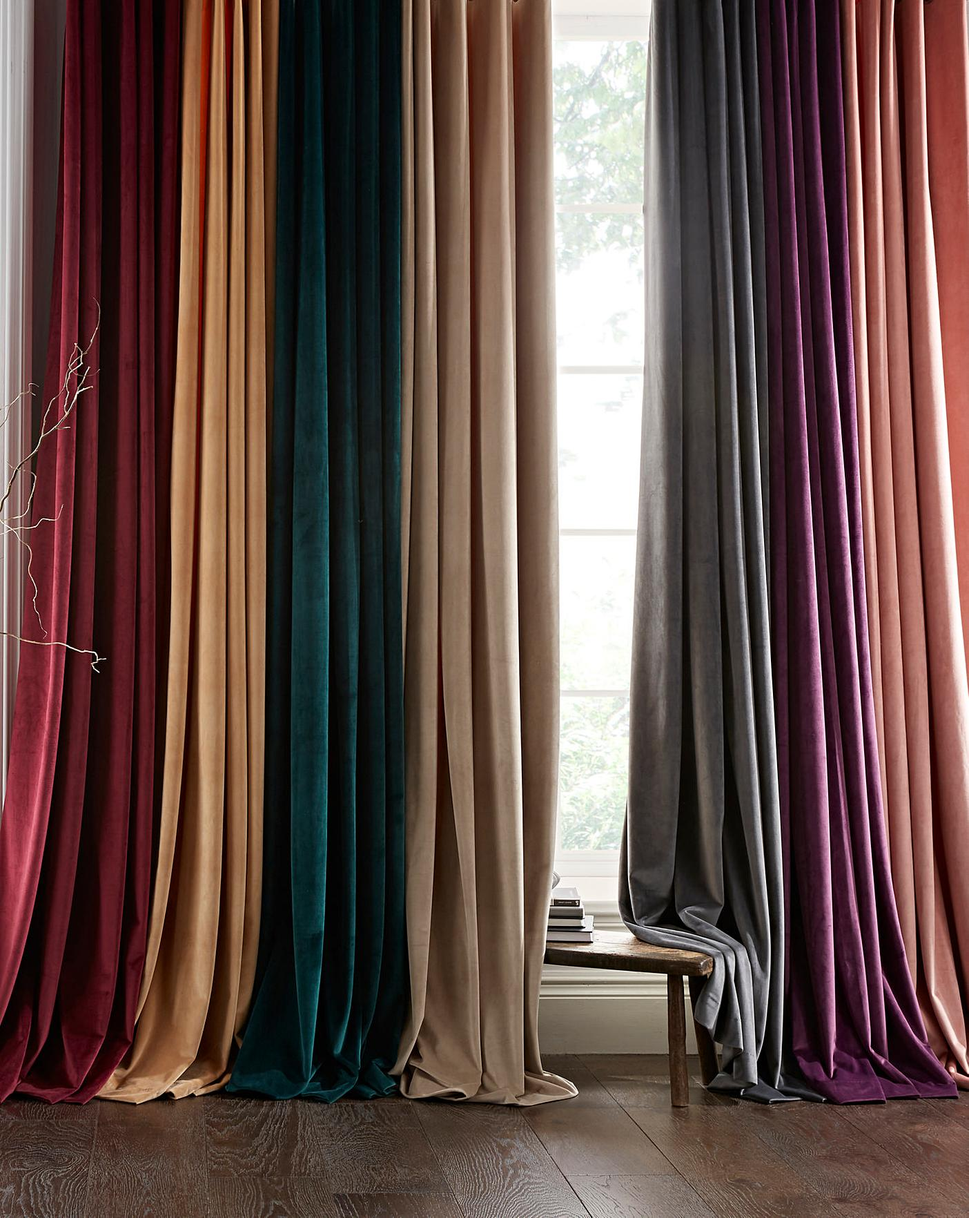 Luxury Velour Lined Eyelet Curtains Oxendales